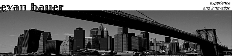Black and White Photograph from under Brooklyn Bridge, facing Lower Manhattan